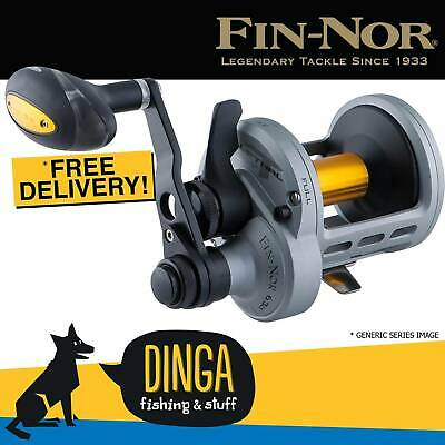 Fin-Nor Lethal Lever Drag LTL 20 2 Speed Overhead Fishing Reel