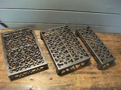 Cast Iron air Brick Vent Victorian Pattern style 9 x 3 or 9 x 6 or ornate approx