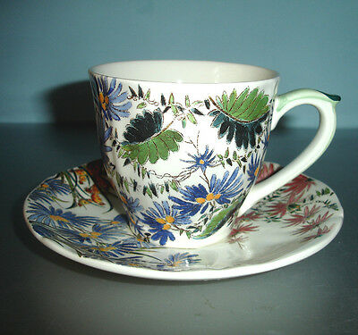 Gien TAMARIN 8 piece Tea Cup & Saucer Set Service for 4 French Faience New