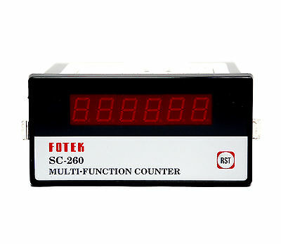 1pc Fotek SC-260 6 Digit Total Counter DIN 72x72 EEPROM Memory No-Relay out
