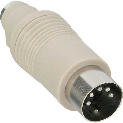 inline® at tastatur adapter 5pol din-stecker male auf ps/2 buchse female