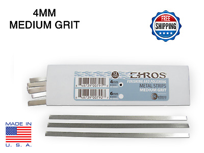 EHROS Polishing & Finishing Strips  MEDIUM 4MM Dental IPR Interproximal 12 Pack