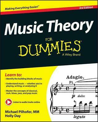 Music Theory for Dummies by Michael Pilhofer (English) Paperback Book Free Shipp