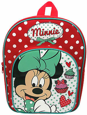 Disney MINNIE MOUSE CUPCAKES ARCH BACKPACK Bag Toddler/Child School/Sport BN