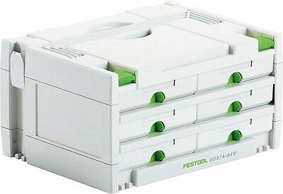 Festool SORTAINER SYS 3-SORT/6 491984 FREE NEXT DAY DELIVERY