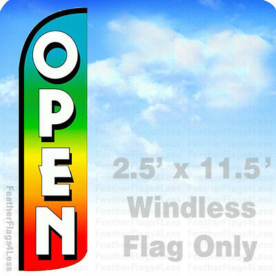 Open Flag Flutter Feather Banner Swooper Extra Wide Windless Stars /& Stripes