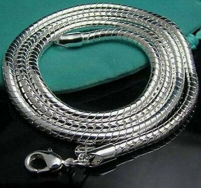 Wholesale 3MM 925Sterling1 Solid Silver Snake Chains&Necklace For Xmas Gift