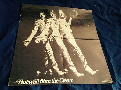 Cream Farewell Autographed Poster