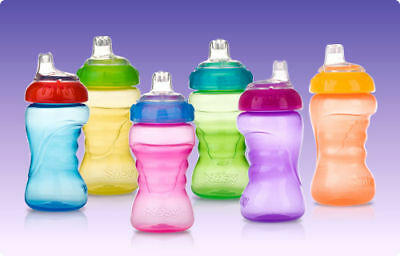 6 NEW Nuby No Spill 10 oz. Sippy Gripper Cups BPA FREE