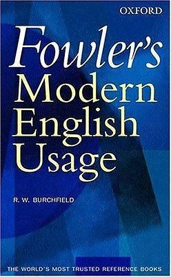 """VERY GOOD COND"" Fowler's Modern English Usage 3RD EDITION (2004) HARDCOVER"