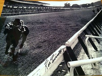 Secretariat signed Ron Turcotte Belmont Stakes at wire 11x14 BUY NOW