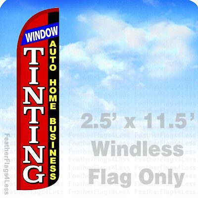 2.5x11.5 WINDLESS Swooper Feather Flag Banner Sign - WINDOW TINTING rz