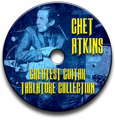 Chet Atkins Fingerstyle Country Guitar Tabs Tablature Song Book Software Cd