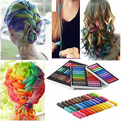 Hair Chalk Temporary Hair Dye Colour Soft Pastels Salon Kit 12/24/36