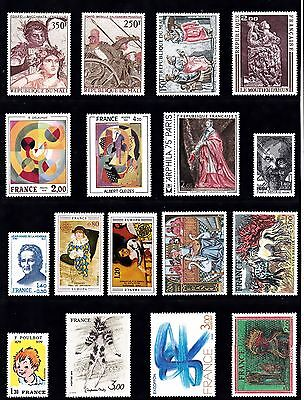 Art  PAINTINGS Thematic STAMPS 1975-78 MALI REPUBLIC Ref:TH219
