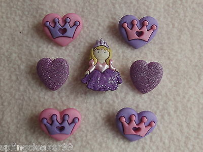 Dress It Up Buttons ~ Her Majesty ~ Fairytale ~ Princess ~ Queen ~ Crown ~ Heart