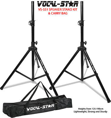 Vocal Star SS-1 High Quality Tripod Speaker Stand Kit & Carry Bag DJ PA Disco