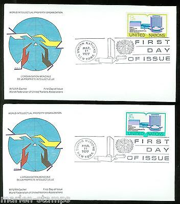 United Nations Wfuna Roger Christian Cachetedset Of Two  First Day Covers