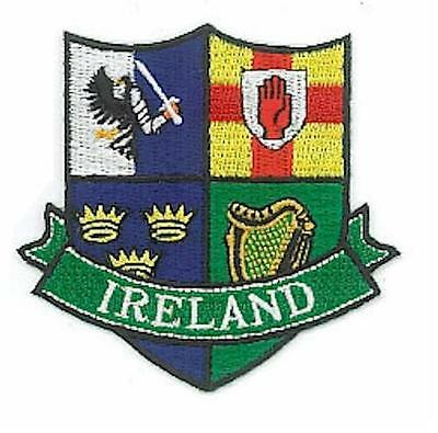 Irish PROVINCES Shield Crests Embroidered Patch Badge