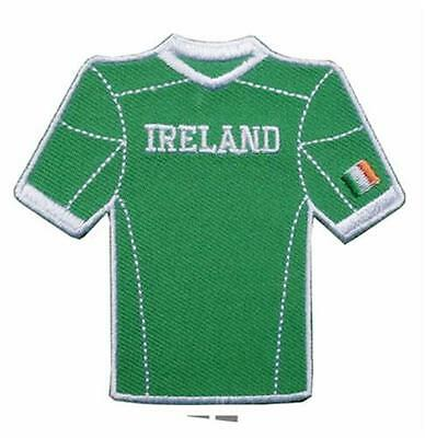 Irish Green Sports Jersey Embroidered Patch Badge - Football