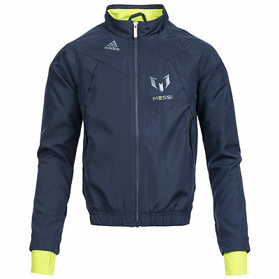 Kids/Boys Adidas Lionel Messi Woven Track Top Nightshade/Solarslime F48968
