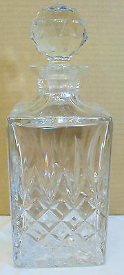 Square crystal decanter & stopper
