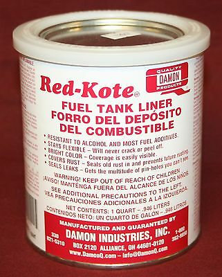 Red Kote Quart  Coat Gas Oil Diesel Fuel Tank Sealer Liner Patch Hit Miss Engine