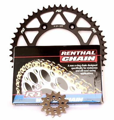 RENTHAL R1 Gold Motocross Chain BLUE Sprocket Combo Kit 52/13T YZ250F 01 - 2016