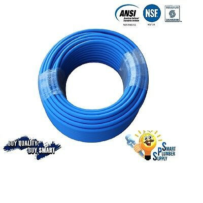 """3/4"""" x 300 ft BLUE PEX TUBING FOR WATER SUPPLY WITH 25 YEARS WARRANTY"""
