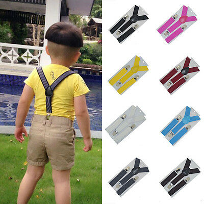 High Lovely Baby Boys Girls Clip-on Suspender Y-Back Child Elastic Suspenders