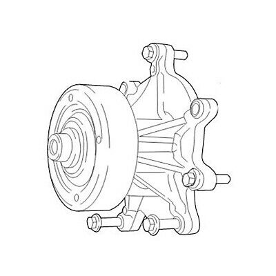 New Water Pump For Ford New Holland Tractor 7610 7710