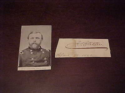1880 Isaac Catlin Civil War Officer Autographed Signed Cut Mayor of Brooklyn