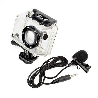 Side Open Skeleton Housing Case + 3.5mm External Microphone Mic For GoPro Hero 2