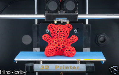 CTC 3D Printer Makerbot/Replicator2 2 Extruders  With 1roll of ABS/PLA Filament