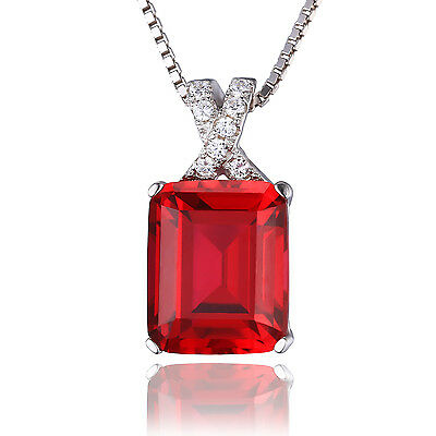 JewelryPalace 6ct Pigeon Blood Red Ruby Pendant Necklace 925 Sterling Silver