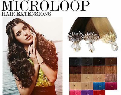 ★EASY LOOP EXTENSIONS DE CHEVEUX A FROID 100% NATUREL★★micro ring★50cm 0.5G