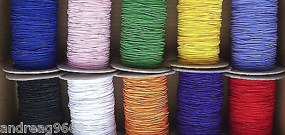 1mm ROUND ELASTIC  CORD BEADING CRAFTS HAT ELASTIC  - 11 COLOURS TO CHOOSE