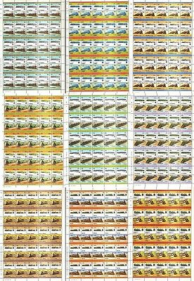 10 x AUSTRALIA Railway Stamp Sheets (500 Stamps) Train / Locomotive WHOLESALE