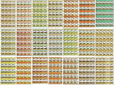 23 x GERMANY Railway Stamp Sheets (1,090 Stamps) Train / Locomotive WHOLESALE