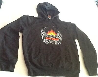 "Harley Davidson Hoodie Sweater Youth Size Medium 20""x 23""NEW"