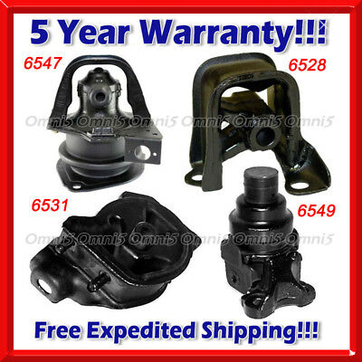 w//o Solenoid 95-98 for Honda Odyssey 2.2L 2.3L for Auto Motor/&Trans Mount 4PCS