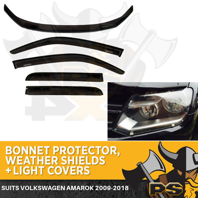 VOLKSWAGEN AMAROK SET OF BONNET PROTECTOR,WEATHER SHIELDS& Headlight Covers