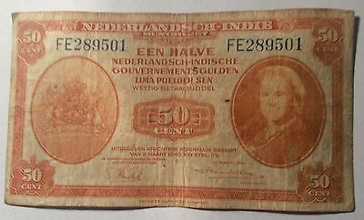 Netherland Indie 50 Cent WWII Bank Note (Indonesia)