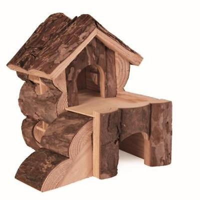 Garden Trixie Bjork Log Cabin For Hamsters Lawn Outdoor New Land