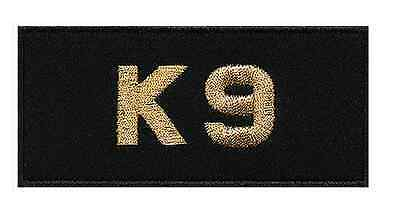 Embroidered K9 Badge - Gold, White or Silver Text