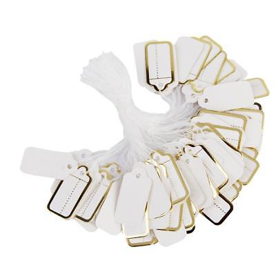 500 Gold Strung String Tags Swing Price Jewelry Clothing Tie On Paper Labels