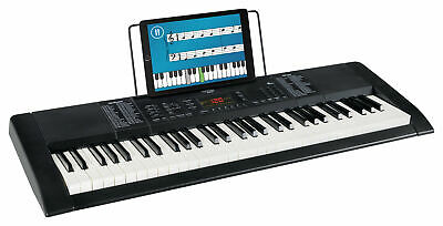 Digital 61-Tasten Keyboard E-Piano 128 Sounds & Rhythmen Recording Led Schwarz