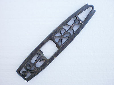 ANCIENT RARE Medieval Iron Decorated Fire Striker Fire Steel  15 - 16 century AD