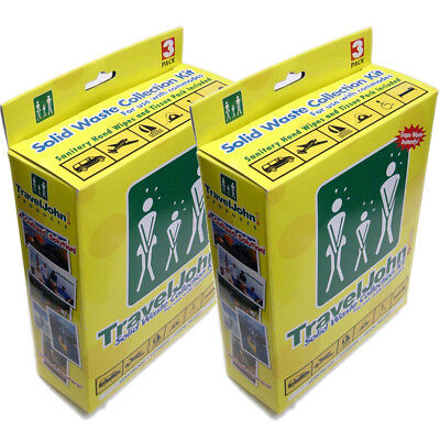 TravelJohn Travel John Disposable Solid Waste Bags Emergency Toilet 3 Pack x 2