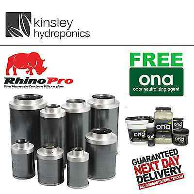 "6"" / 150 x 300mm Rhino Pro Carbon Filter Professionals Hobby Growers Hydroponics"